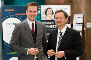 von links: Dr. Florian Fuhrmann, CompuGroup Medical Deutschland AG, Helmut Hildebrandt, OptiMedis AG